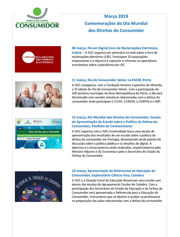 Mês do Consumidor - Atividades DGC 2019