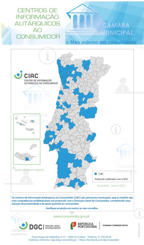 Mapa CIAC e Listagem